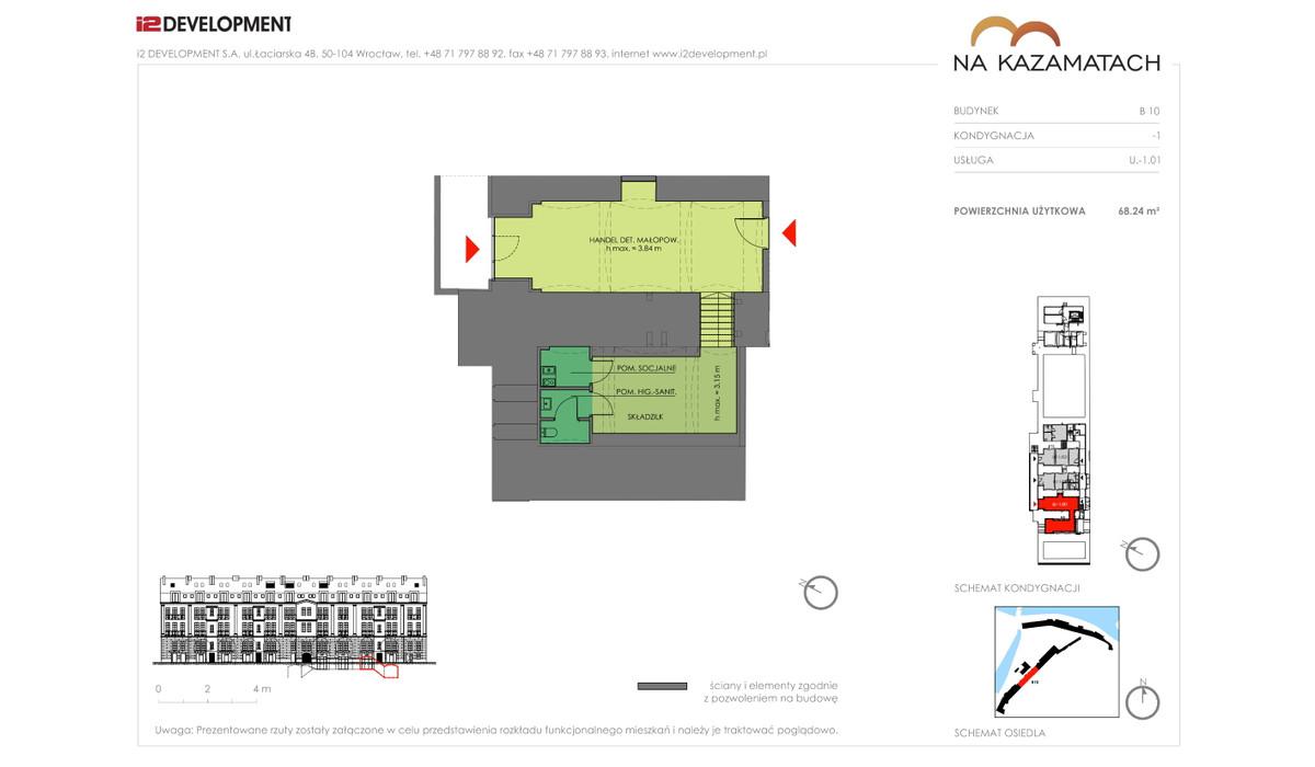 Lokal użytkowy w inwestycji Na Kazamatach, Wrocław, 68 m² | Morizon.pl | 6679