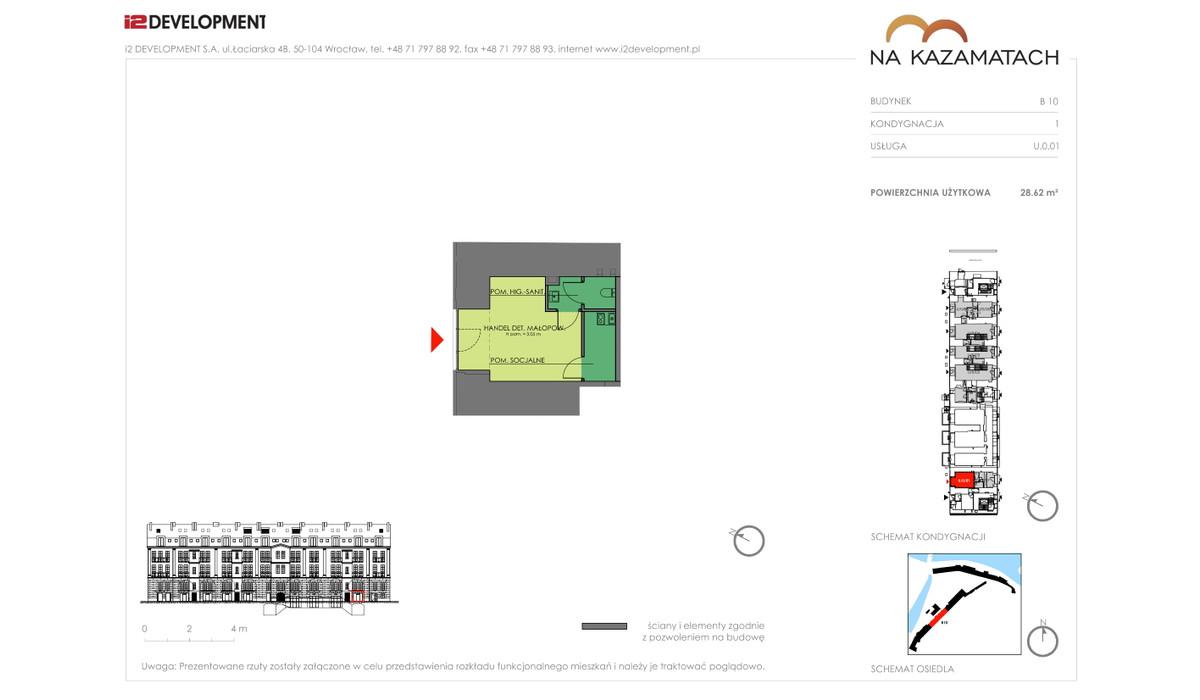 Lokal użytkowy w inwestycji Na Kazamatach, Wrocław, 29 m² | Morizon.pl | 6682