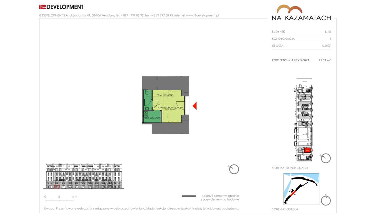 Lokal użytkowy w inwestycji Na Kazamatach, Wrocław, 25 m² | Morizon.pl | 6688