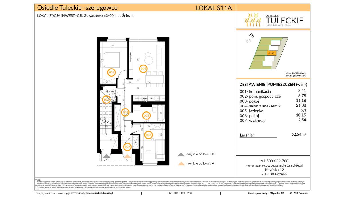 Dom w inwestycji OSIEDLE TULECKIE, Gowarzewo, 63 m² | Morizon.pl | 6907