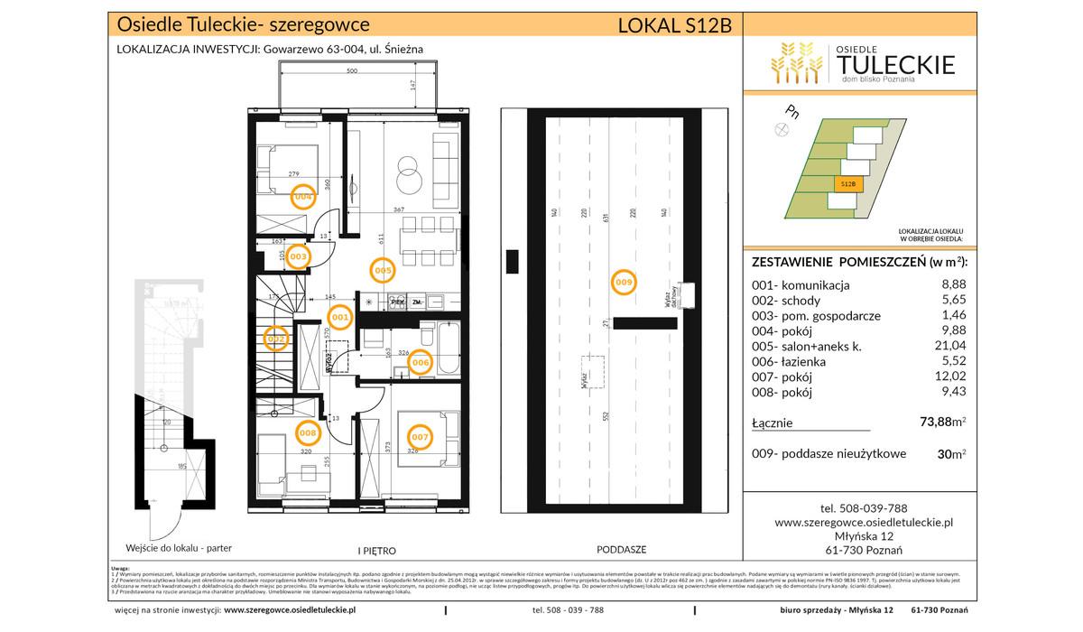 Dom w inwestycji OSIEDLE TULECKIE, Gowarzewo, 74 m² | Morizon.pl | 6908