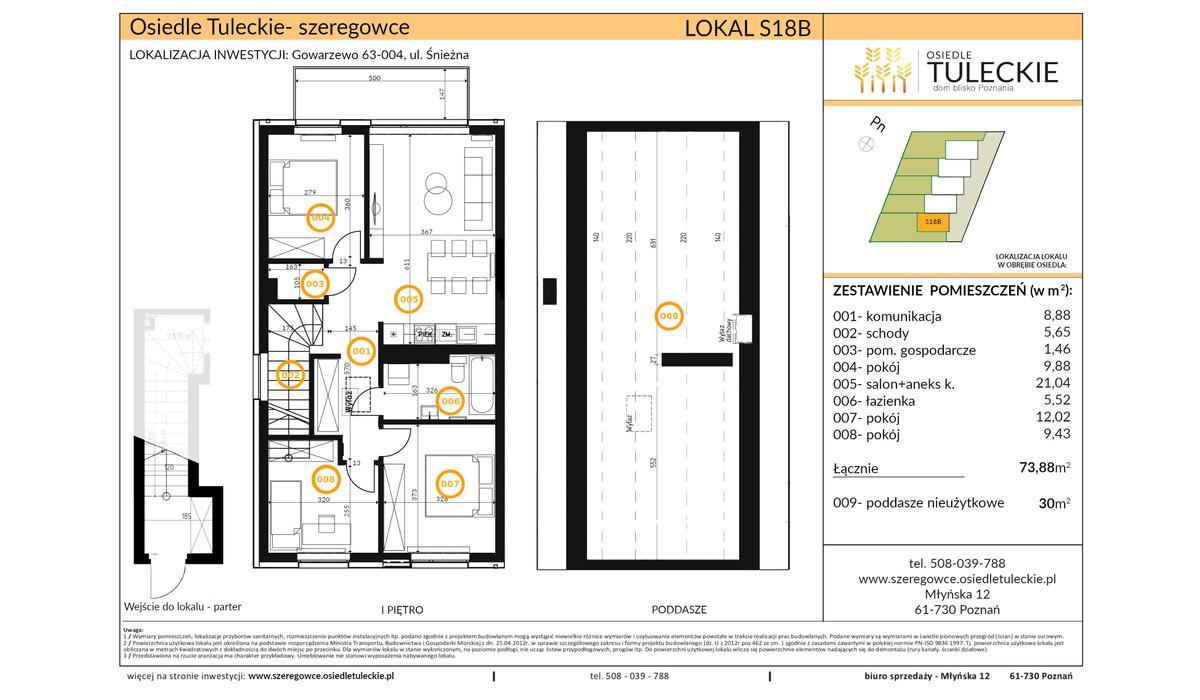 Dom w inwestycji OSIEDLE TULECKIE, Gowarzewo, 74 m² | Morizon.pl | 6915