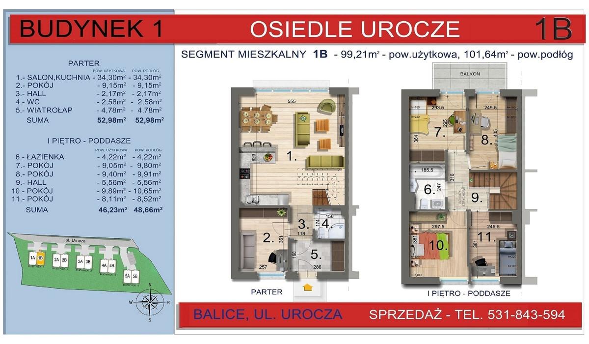 Dom w inwestycji Osiedle Urocze, Balice, 99 m² | Morizon.pl | 3463
