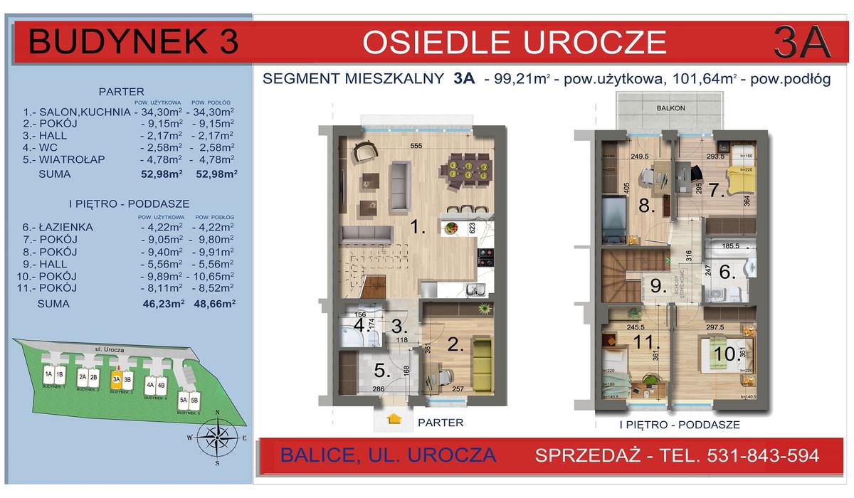 Dom w inwestycji Osiedle Urocze, Balice, 99 m² | Morizon.pl | 3466