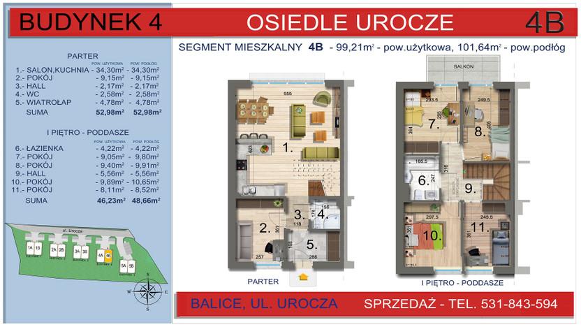Dom w inwestycji Osiedle Urocze, Balice, 99 m² | Morizon.pl | 3469