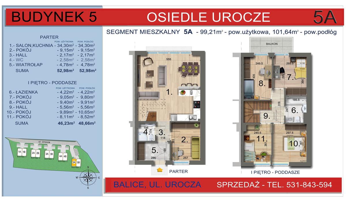 Dom w inwestycji Osiedle Urocze, Balice, 99 m² | Morizon.pl | 3470
