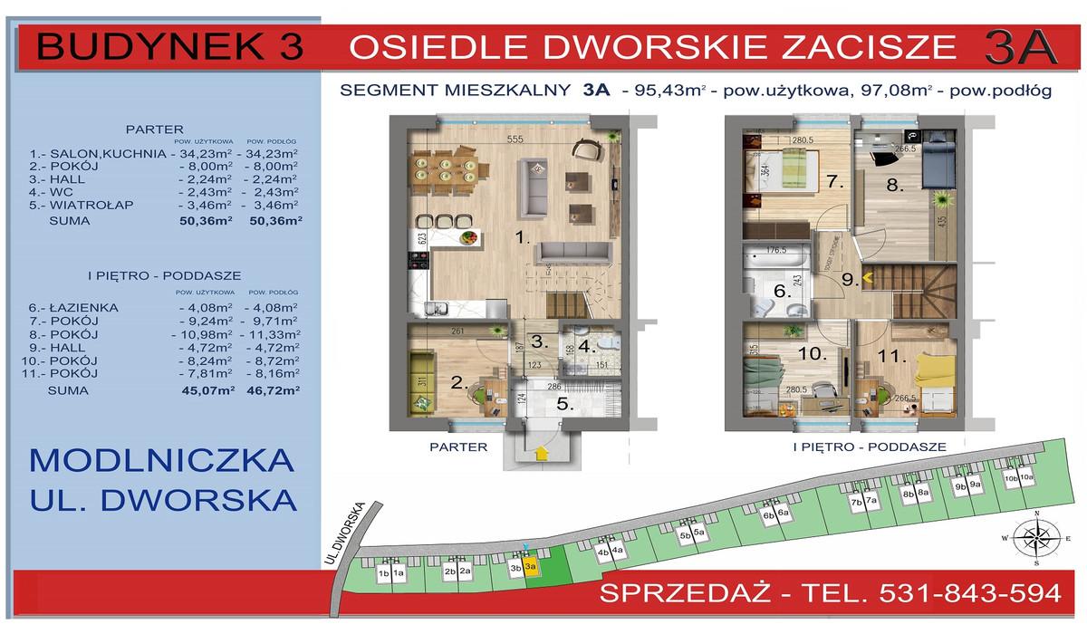 Dom w inwestycji Osiedle Dworskie Zacisze, Modlniczka, 95 m² | Morizon.pl | 3746