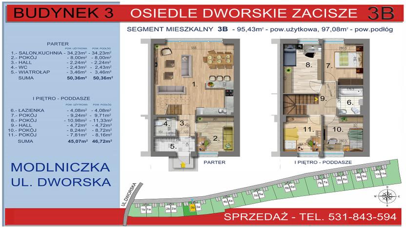 Dom w inwestycji Osiedle Dworskie Zacisze, Modlniczka, 95 m²   Morizon.pl   3747