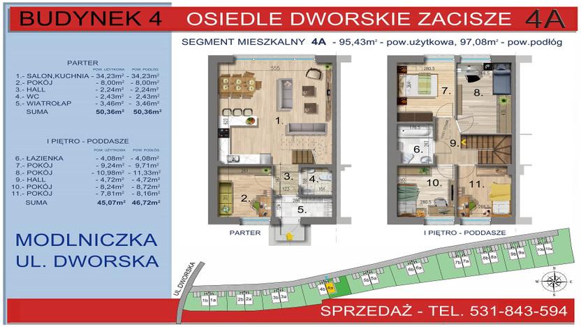 Dom w inwestycji Osiedle Dworskie Zacisze, Modlniczka, 95 m² | Morizon.pl | 3748