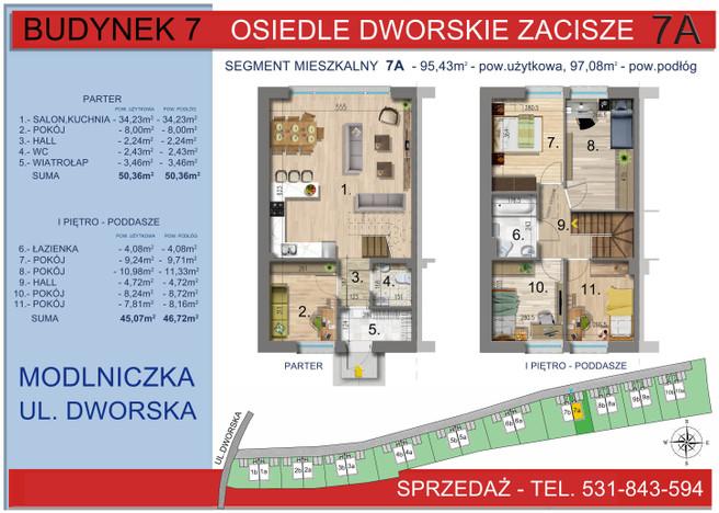 Dom w inwestycji Osiedle Dworskie Zacisze, Modlniczka, 95 m²   Morizon.pl   3754