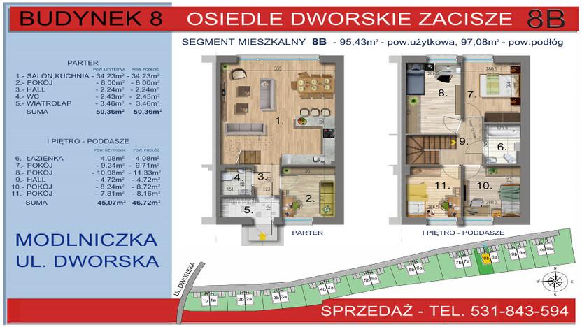 Dom w inwestycji Osiedle Dworskie Zacisze, Modlniczka, 95 m²   Morizon.pl   3757