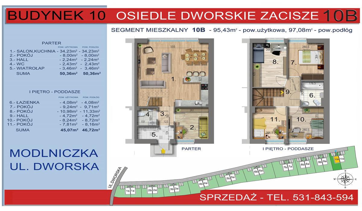 Dom w inwestycji Osiedle Dworskie Zacisze, Modlniczka, 95 m² | Morizon.pl | 3761