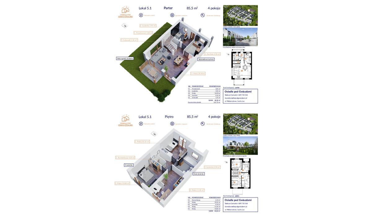 Dom w inwestycji Osiedle Pod Gwiazdami, Suchy Las, 86 m² | Morizon.pl | 1072