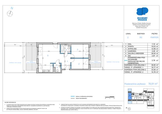 Mieszkanie w inwestycji Bulwary Praskie, Warszawa, 71 m² | Morizon.pl | 1386