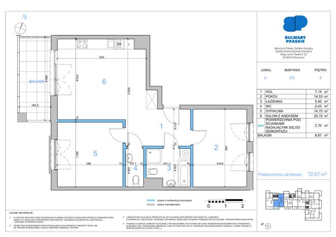 Mieszkanie w inwestycji Bulwary Praskie, Warszawa, 73 m² | Morizon.pl | 1393