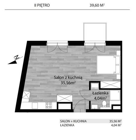 Morizon WP ogłoszenia | Mieszkanie na sprzedaż, Kraków Podgórze Stare, 40 m² | 2210