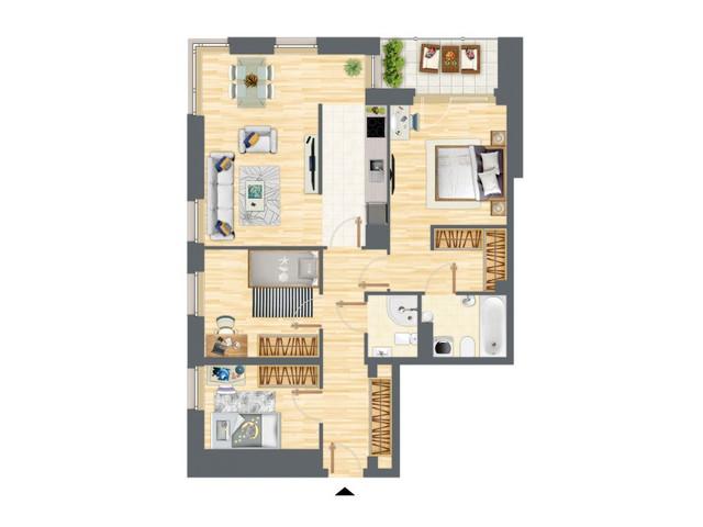 Morizon WP ogłoszenia | Mieszkanie w inwestycji Słowackiego 77, Gdańsk, 86 m² | 5241