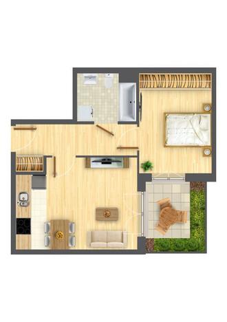 Morizon WP ogłoszenia   Mieszkanie w inwestycji Nowa Myśliwska, Kraków, 40 m²   5698