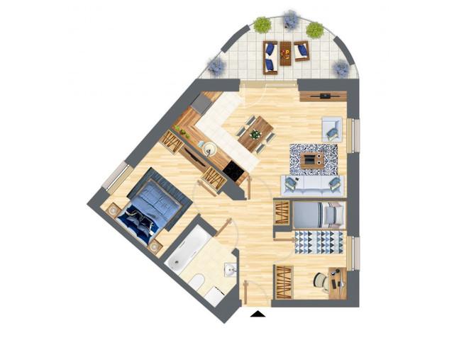 Morizon WP ogłoszenia | Mieszkanie w inwestycji Słowackiego 77, Gdańsk, 54 m² | 5298