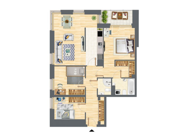 Morizon WP ogłoszenia | Mieszkanie w inwestycji Słowackiego 77, Gdańsk, 86 m² | 5211