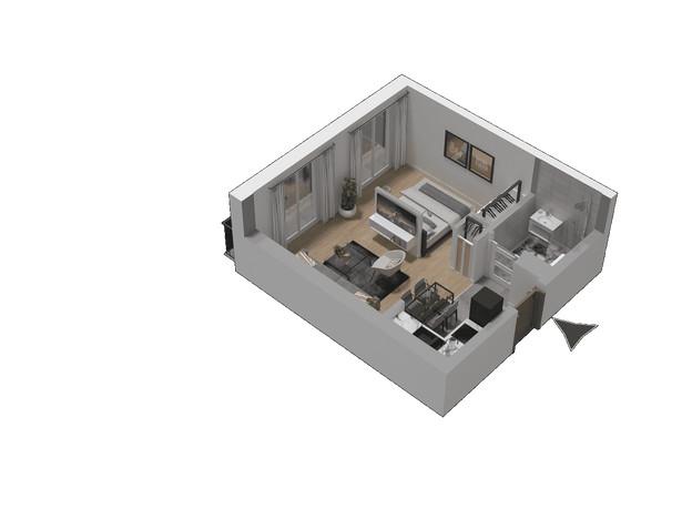 Morizon WP ogłoszenia | Mieszkanie w inwestycji KW51, Kraków, 30 m² | 1298
