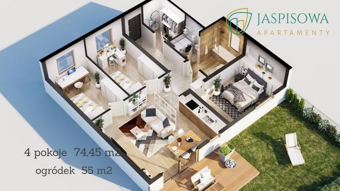 Morizon WP ogłoszenia | Mieszkanie w inwestycji Jaspisowa Apartamenty, Rzeszów, 74 m² | 6410