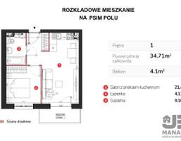 Morizon WP ogłoszenia | Mieszkanie na sprzedaż, Wrocław Psie Pole, 35 m² | 6410