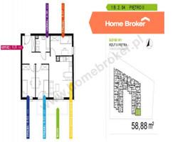 Morizon WP ogłoszenia   Mieszkanie na sprzedaż, Warszawa Praga-Południe, 59 m²   3288