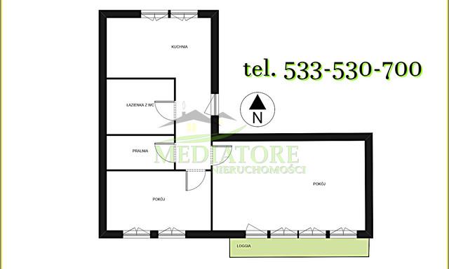 Mieszkanie na sprzedaż <span>Łódź, Górna, Chojny</span>