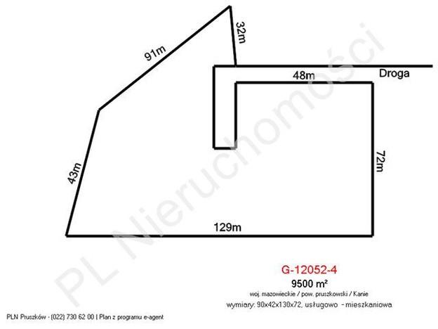 Morizon WP ogłoszenia   Działka na sprzedaż, Kanie, 5800 m²   3281