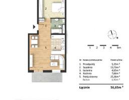 Morizon WP ogłoszenia | Mieszkanie w inwestycji Osiedle Słoneczne, Bydgoszcz, 57 m² | 9317