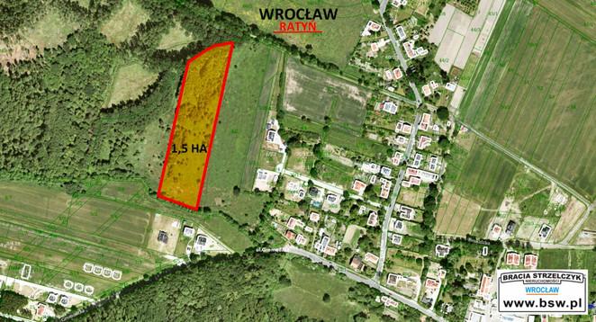 Morizon WP ogłoszenia   Działka na sprzedaż, Wrocław Ratyń, 15001 m²   6340